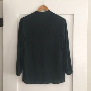 Theory Tops - Green Silk Theory Blouse